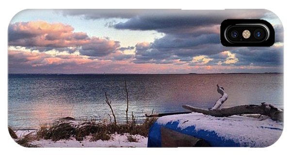#firstsnow #provincetown Phone Case by Ben Berry