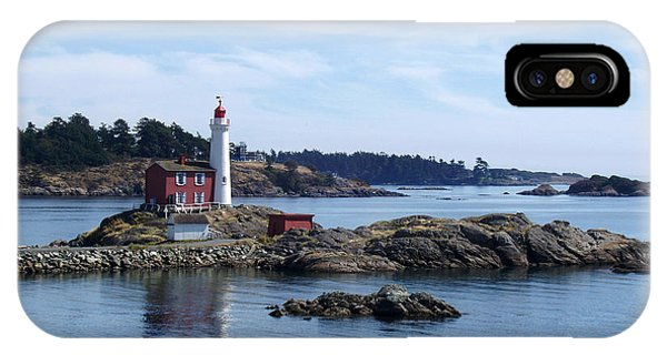 Fisgard Lighthouse Shoreline IPhone Case