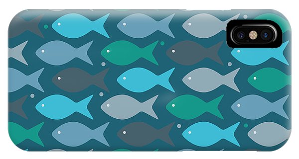 Life iPhone Case - Fish Blue  by Mark Ashkenazi