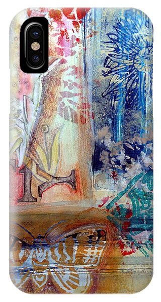 IPhone Case featuring the mixed media Fish Collage #1 by Rose Legge