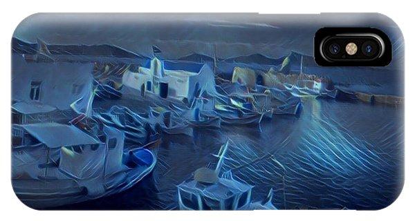Fish Harbour Paros Island Greece IPhone Case