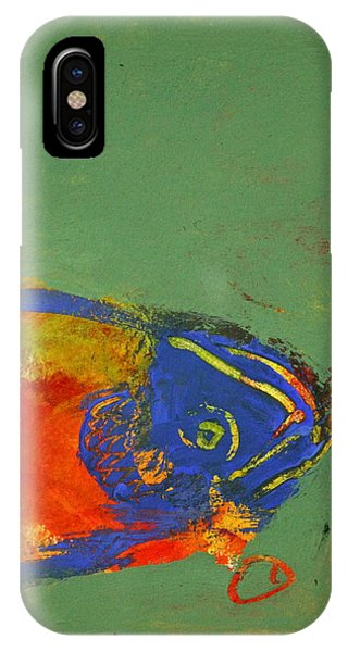 Fish Pondering The Anomaly Of Mans Anamnesis IPhone Case