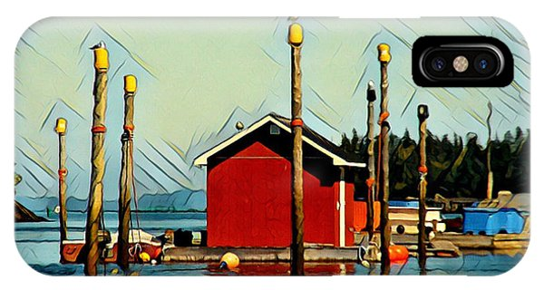 Fish Shack, Campobello IPhone Case
