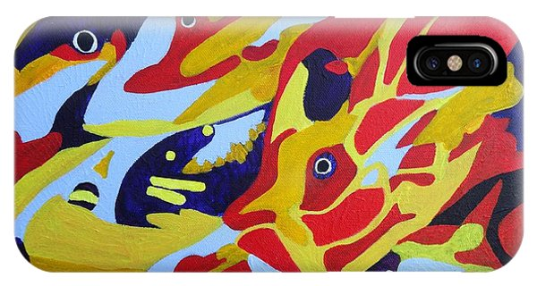 Fish Shoal Abstract 2 IPhone Case