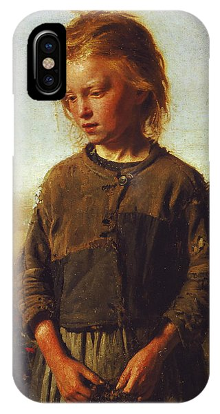 Poverty iPhone Case - Fisher Girl by Ilya Efimovich Repin