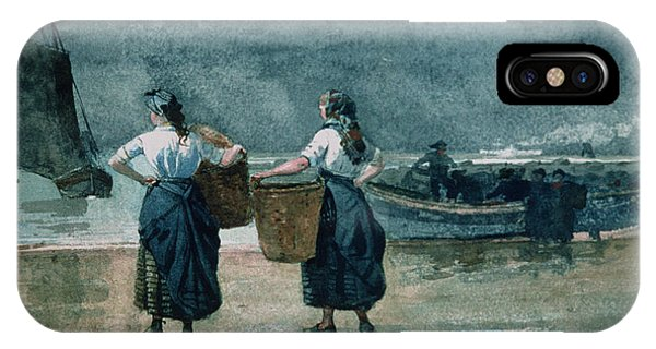 Homer iPhone Case - Fisher Girls By The Sea by Winslow Homer