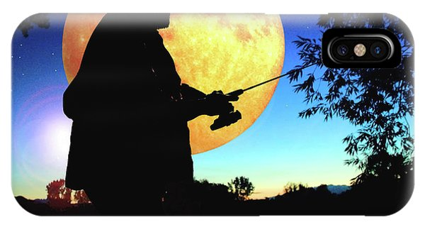 Fisherman In The Moolight IPhone Case