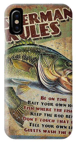 Fishing iPhone Case - Fisherman's Rules by JQ Licensing