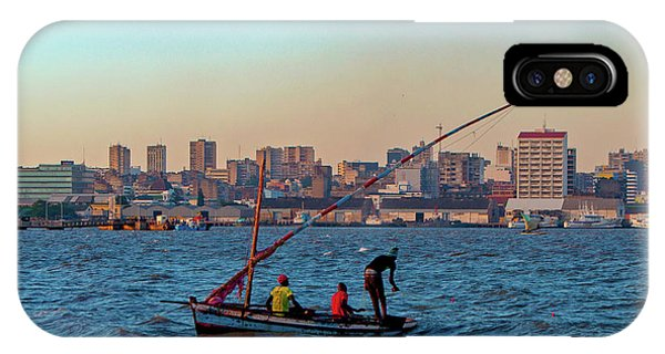 Fishermen And The Maputo Skyline IPhone Case