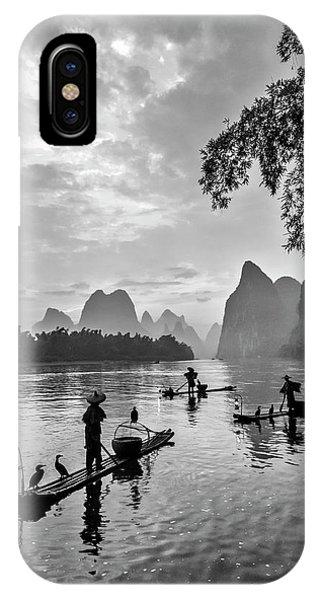 Fishermen At Dawn. IPhone Case