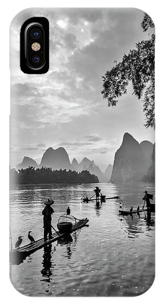 Fishermen At Dawn. IPhone Case