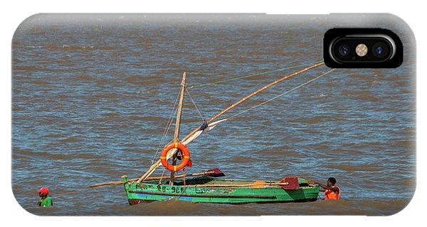 Fishermen Pulling Boat IPhone Case