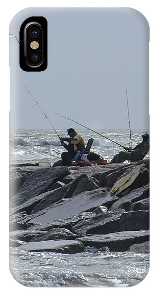 Fishermen With Seagull IPhone Case