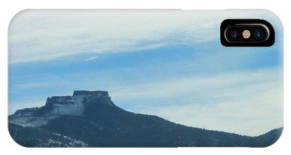 Fishers Peak Raton Mesa In Snow IPhone Case