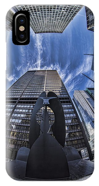 Fisheye View Of Chicago's Picasso IPhone Case