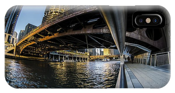Fisheye View From The Chicago Riverwalk IPhone Case