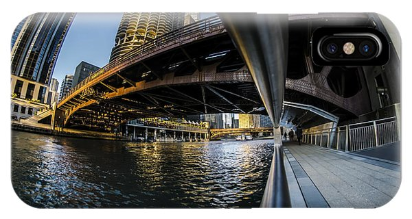 Fisheye View From The Chicago Riverwalk IPhone Case