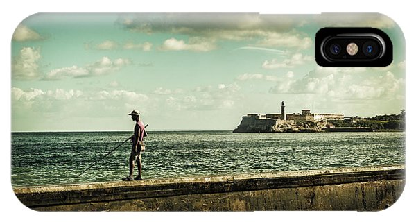 Fishing Along The Malecon IPhone Case