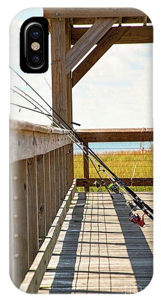 Fishing At Shem Creek IPhone Case