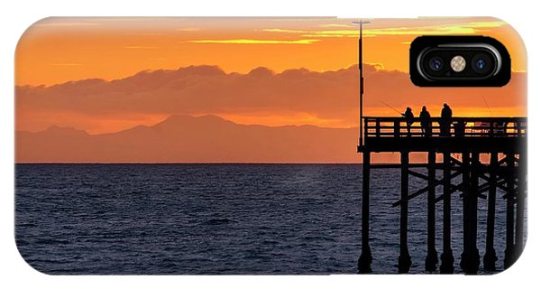 IPhone Case featuring the photograph Fishing At Sunset by Quality HDR Photography