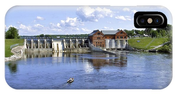 Fishing At The Croton Dam IPhone Case