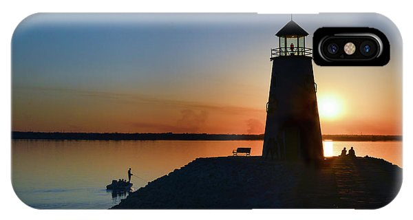 Fishing At The Lighthouse IPhone Case