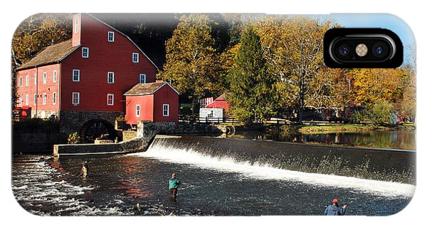 Fishing At The Old Mill IPhone Case
