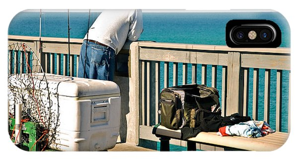 Fishing At The Pier IPhone Case
