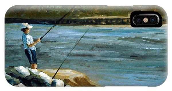 Fishing At The Point IPhone Case