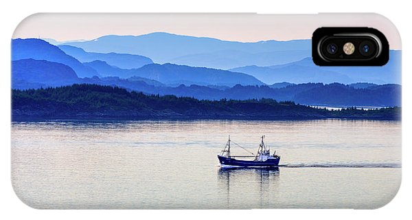 Fishing Boat At Dawn IPhone Case
