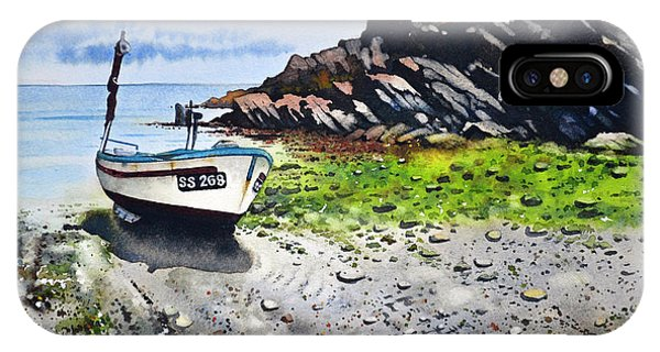 iPhone Case - Fishing Boat Cadgwith by Paul Dene Marlor