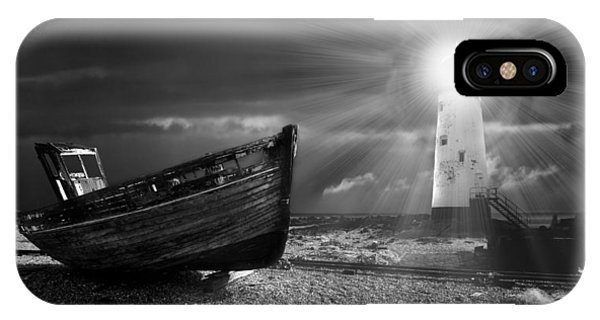 Mono iPhone Case - Fishing Boat Graveyard 7 by Meirion Matthias