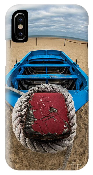 Little Blue Fishing Boat IPhone Case