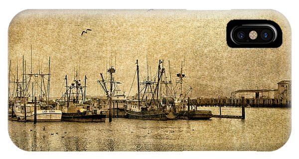 Fishing Boats Columbia River In Sepia IPhone Case