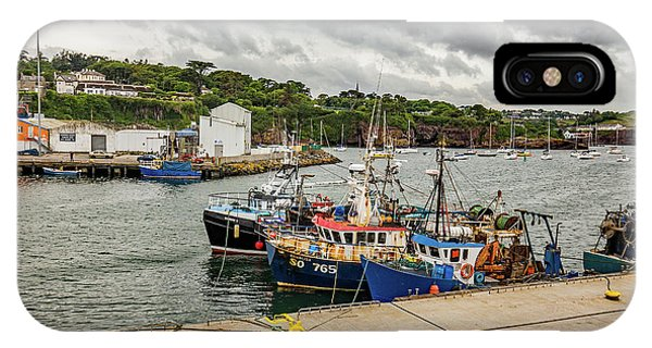 Dunmore East iPhone Case - Fishing Boats by Ed James