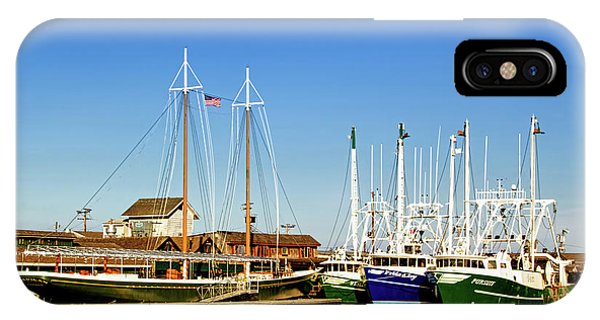 Fishing Boats In Cape May Harbor IPhone Case