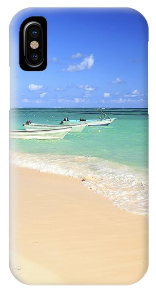 Beach iPhone Case - Fishing Boats In Caribbean Sea by Elena Elisseeva