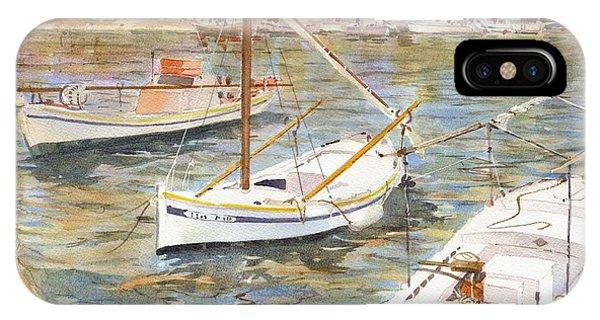 Fishing Boats In Skopelos IPhone Case