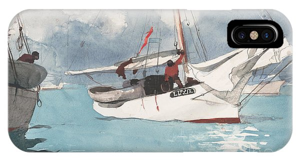 Homer iPhone Case - Fishing Boats, Key West, 1903 by Winslow Homer
