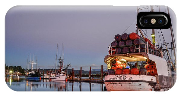 Fishing Boats Waking Up For The Day IPhone Case