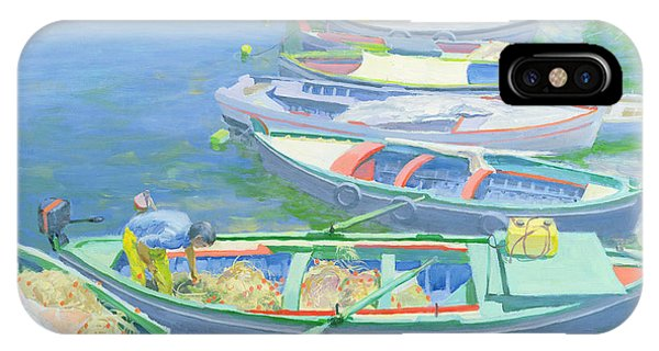 Boats iPhone Case - Fishing Boats by William Ireland
