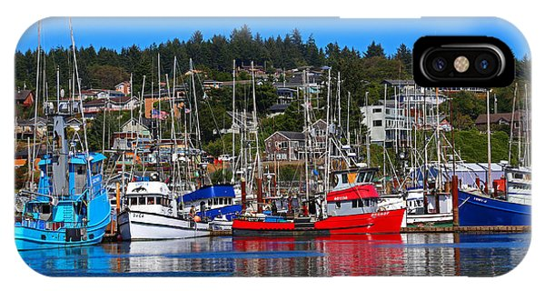 Fishing Fleet At Newport Harbor IPhone Case