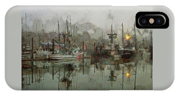Fishing Fleet Dock Five IPhone Case