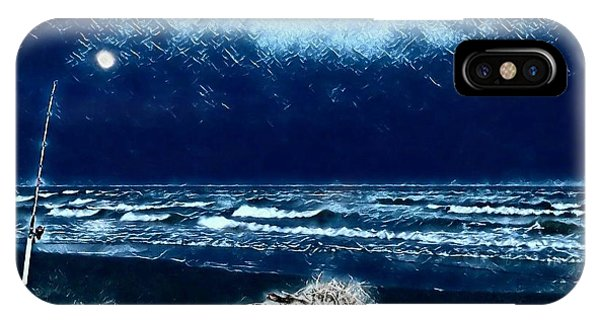 Fishing For The Moon IPhone Case