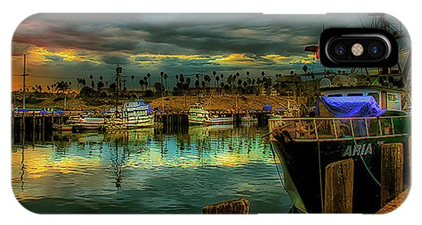 Fishing Harbor At Sunset IPhone Case