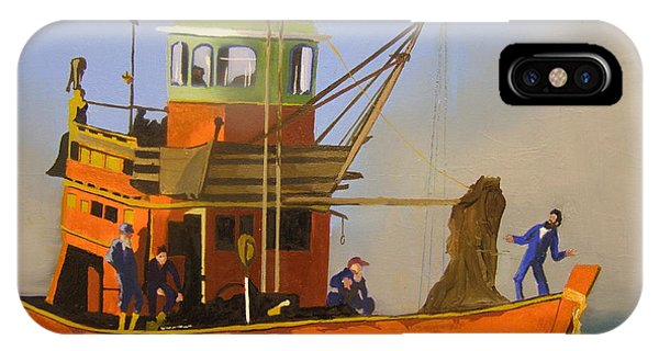 Fishing In Orange IPhone Case