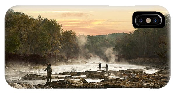 Fishing In The Mist IPhone Case
