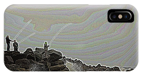 Fishing In The Twilight Zone IPhone Case