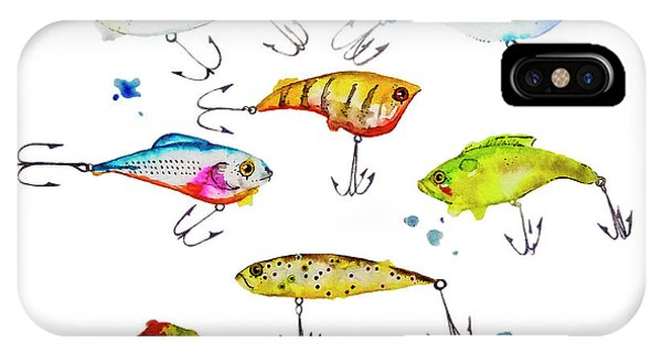 Fishing iPhone Case - Fishing Is Fly No4 by Roleen  Senic