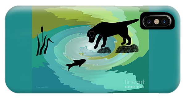 Fishing Labrador Dog IPhone Case